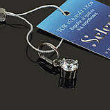 Серебряная подвеска камушек на шею, фото 2