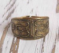 Славянское этническое кольцо из латуни литое