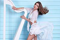 """Пляжный костюм - парео и накидка с кружевом """"Boho Chic Set"""", белый"""
