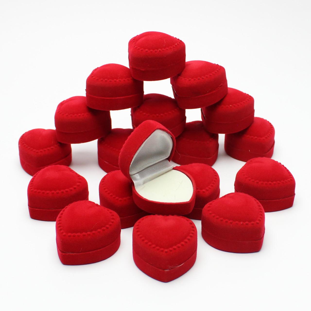 Сердце выпуклое красное  24 шт