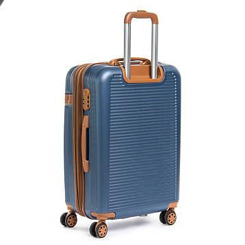 Дорожная Чемодан 2/1 ABS-пластик 8387 blue змейка, фото 2