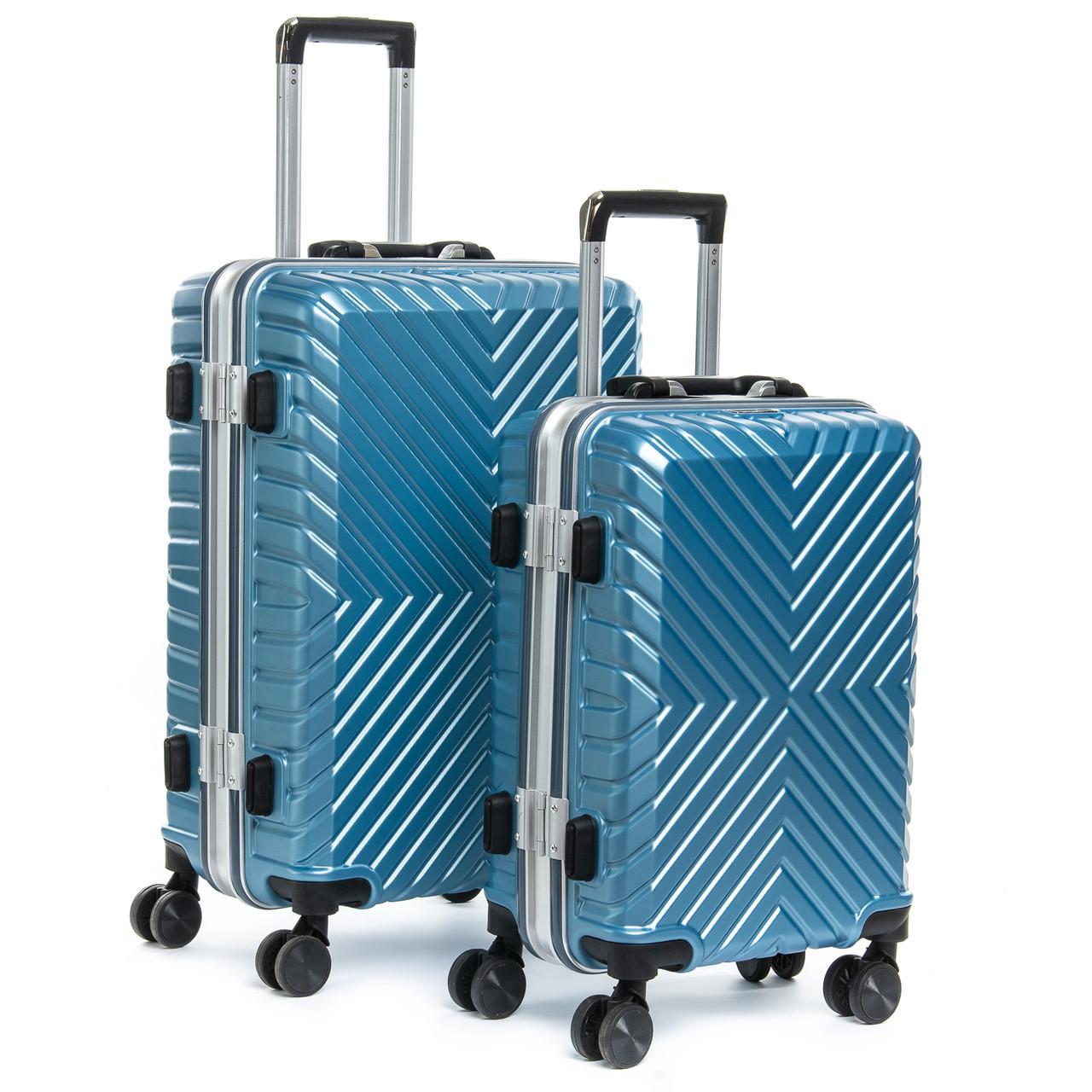 Дорожная Чемодан 2/1 ABS-пластик 07 blue замок