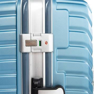 Дорожная Чемодан 2/1 ABS-пластик 07 blue замок, фото 2
