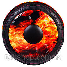 Гироборд Smart Balance Wheel U8 TaoTao APP 10,5 дюймов Fire (огонь) с самобалансом и колонкой, фото 3