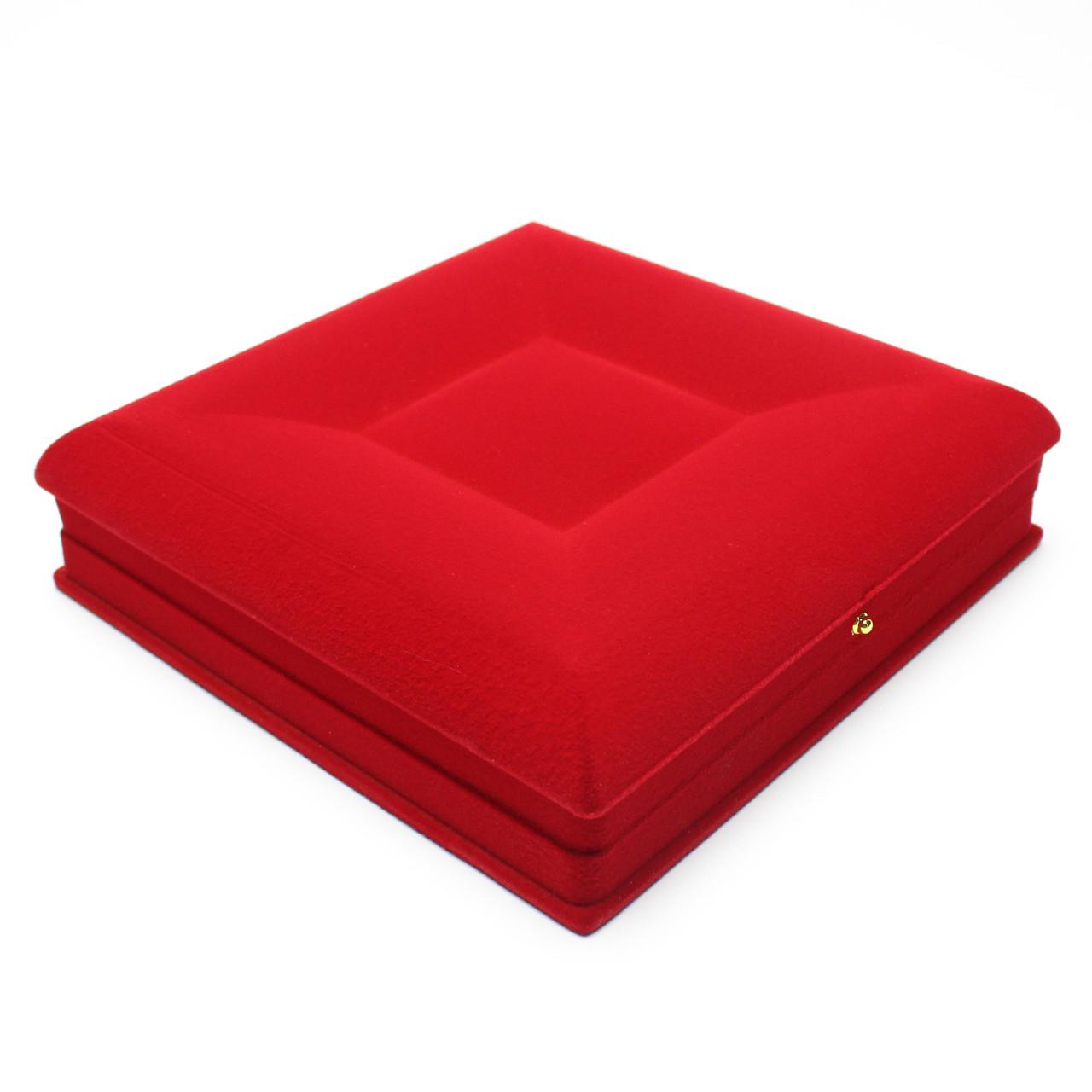 Шкатулка для набора бархатная красная