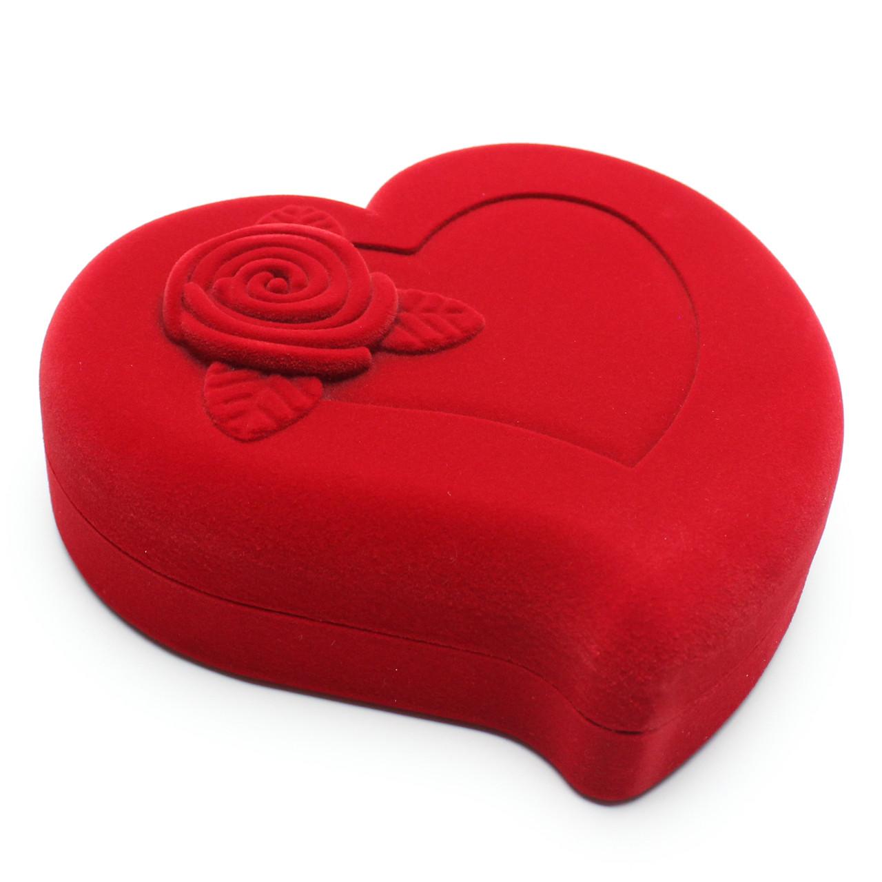 """Футляр бархатный красный под набор ,,Сердце с розой"""""""