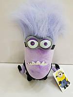 Мягкая игрушка Злой фиолетовый миньон с двумя глазами из Гадкий Я 2 (Evil Minion), 30 см