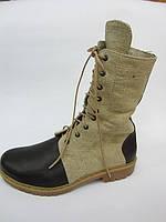 Обувь из конопли. Ботинки мужские с высокими берцами «Блок 2»