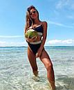 Раздельный купальник с вставками с люрексом и высокой талией, фото 2