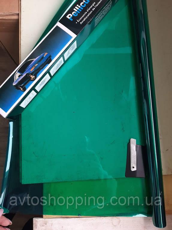 Тонувальна плівка Saca 50 см 3 метри,35% Зелена, плівка для тонування стекол. Антицарапка