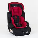 Детское автокресло черное с красным вкладышем JOY , фото 3