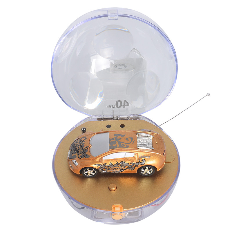 Радіокерована іграшка SUNROZ Mini Car міні-машинка в кулі на р/к 1:67 Золотистий (SUN4791)