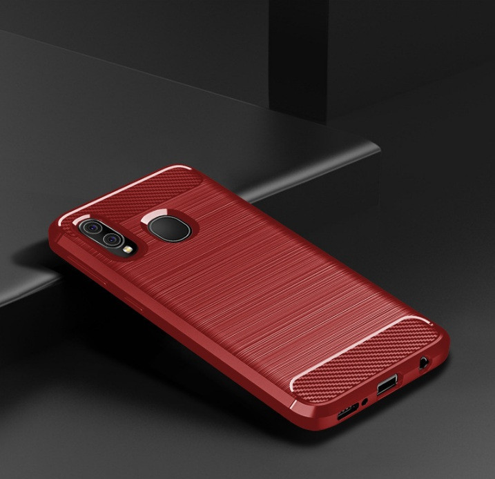 Чохол Carbon для Samsung A20 2019 / A205F червоний