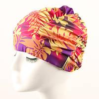 Женщины Plus размер складной плиссированные ткани цветок шапочка для ушей защита ткани купальная шапочка - 1TopShop