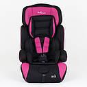 Детское автокресло черное с розовыми вставками JOY, фото 3