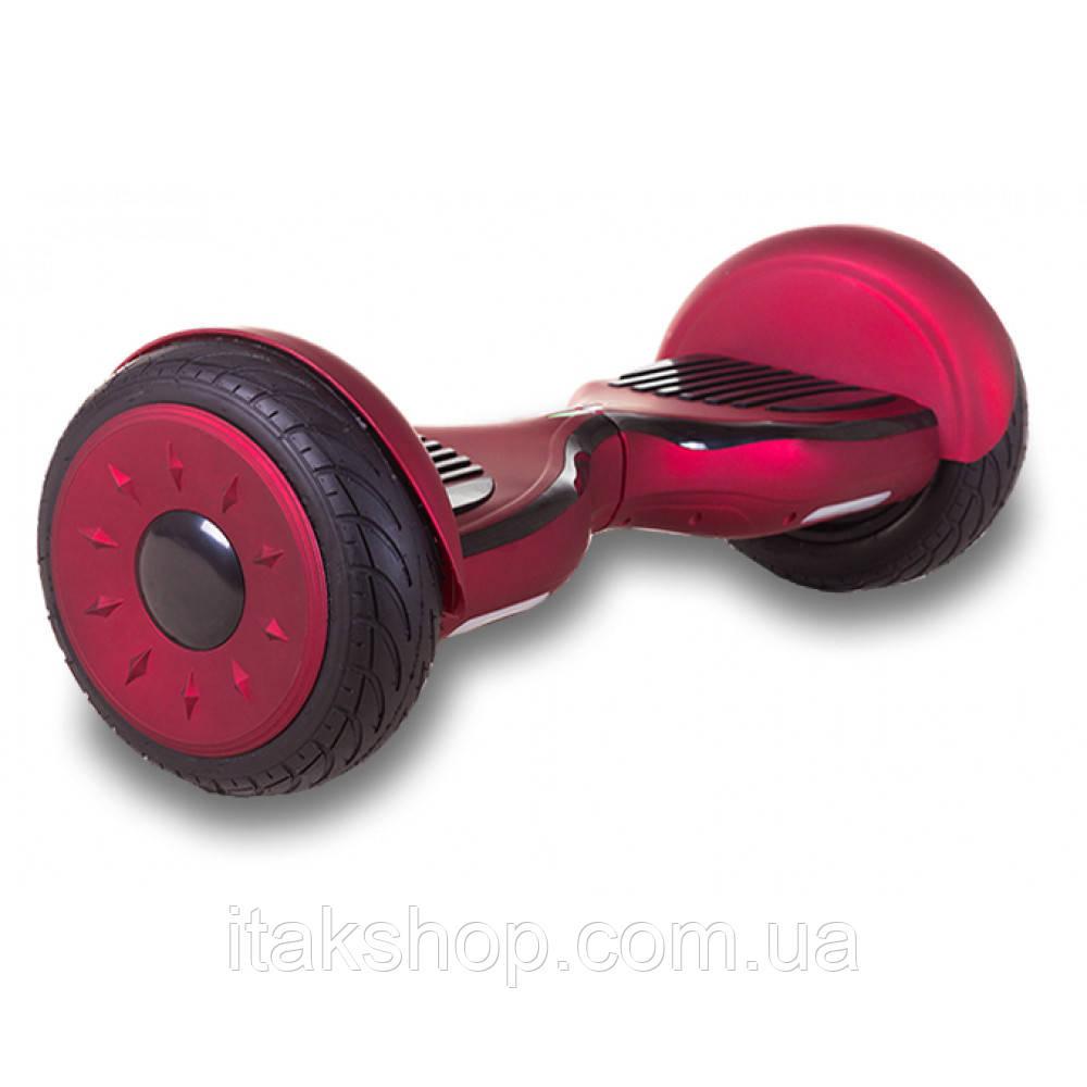 Гироборд Smart Balance Wheel U8 TaoTao APP 10,5 дюймов Red black (матовый) с самобалансом и колонкой
