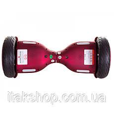 Гироборд Smart Balance Wheel U8 TaoTao APP 10,5 дюймов Red black (матовый) с самобалансом и колонкой, фото 2