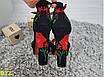 Босоножки классика на толстом каблуке черные с вышивкой, фото 5