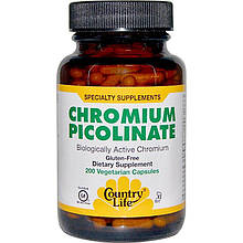 "Пиколинат хрома Country Life ""Chromium Picolinate"" (200 таблеток)"