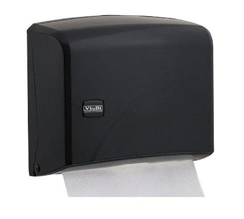 Держатель для бумажных полотенец Z сложения, из черного пластика