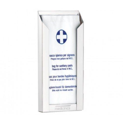 Тримач гігієнічних пакетів білий метал