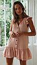 Короткое платье с рюшами без рукавов, фото 6