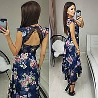 Красивое женское платье цветочный принт