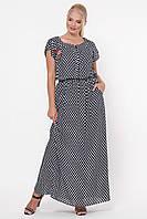 Платье большого размера из штапеля 52-58, красивое