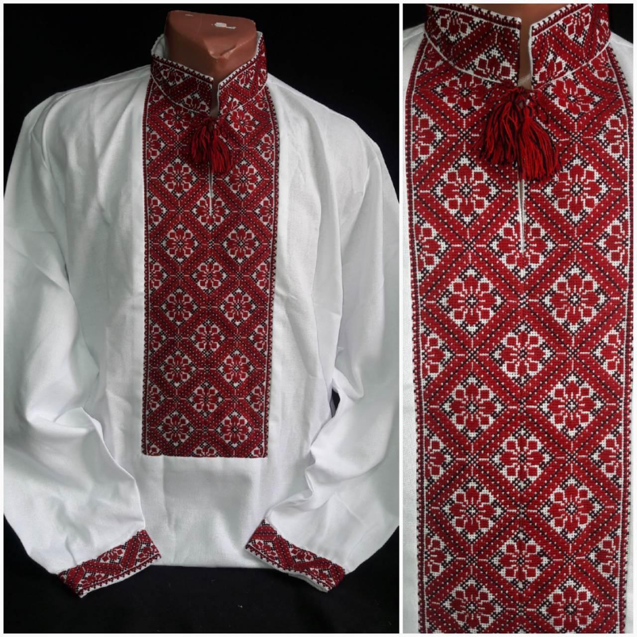 Вышиванка мужская ручной работы, домотканка или лен, 48-58 р-ры, 850/750 (цена за 1 шт. + 100 гр.)