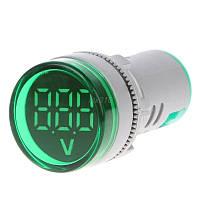 Цифровой вольтметр AC 60-500 В зеленый дисплей, фото 1
