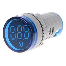 Цифровой вольтметр AC 60-500 В синий дисплей