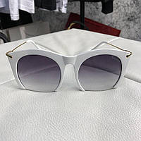 Солнцезащитные очки женские Miu Miu Rasoir Square Frame White/Gray