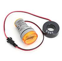 Цифровой амперметр AC 0-100A 220 В желтый дисплей, фото 1
