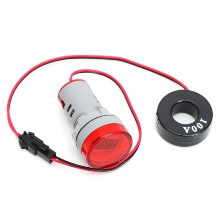Цифровой амперметр AC 0-100A 220 В красный дисплей
