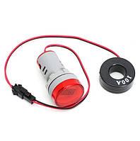 Цифровой амперметр AC 0-100A 220 В красный дисплей, фото 1