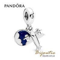 Pandora шарм-подвеска АЭРОПЛАН #798027CZ серебро 925 Пандора оригинал