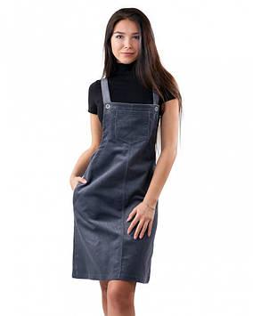 Вельветовый сарафан с карманами (в размерах XS-XL)