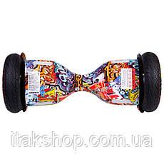 Гироборд Smart Balance Wheel U8 TaoTao APP 10,5 дюймов Hip-Hop Miami (оранжевый) с самобалансом и колонкой, фото 3