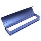 Подарочная коробочка для браслета синяя с серебристой лентой, фото 2