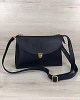Синяя сумка-клатч 60123 маленькая молодежная через плечо два отделения, фото 1