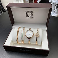 Женский подарочный набор Anne Klein Bracelet/Watch/Bracelet with Diamond Gold