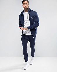 РАЗМЕР L Синий  спортивный  мужской костюм Jordan (Джордан)