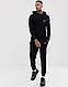 Черный тернировочный мужской спортивный костюм Nike (Найк), фото 2