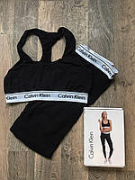 Комплект Белья - Топик и лосины в стиле Calvin Klein ( Чёрный )