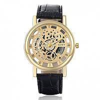 Мужские часы Skeleton gold