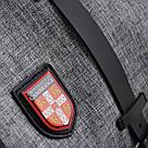 Рюкзак молодежный YES Cambridge CA 182 серый для парня, фото 7