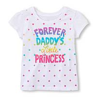 "Футболка ""Forever Daddys Little Princess"" на девочку, 2Т"