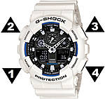 Інструкція по налаштуванню годинників Casio G-Shock