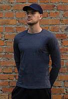 Мужская футболка лонгслив цвета антрацит из хлопка от производителя zomak