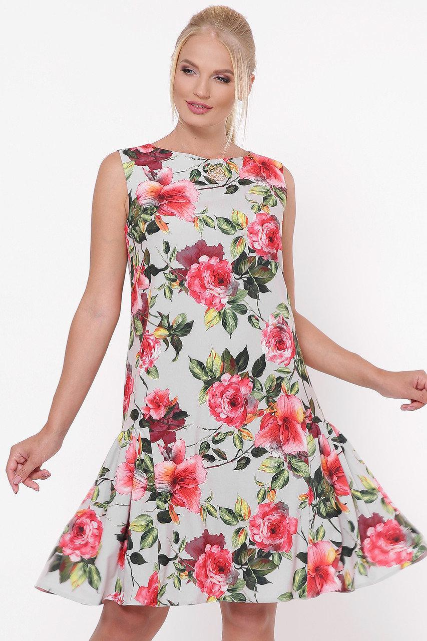 Платье большого размера Настя 50-56, красивое